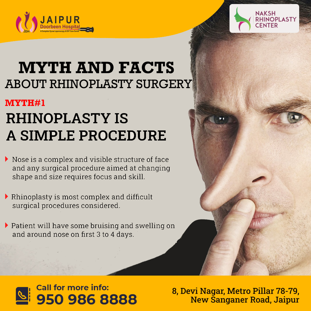 MYTH AND FACTS ABOUT RHINOPLASTY SURGERY