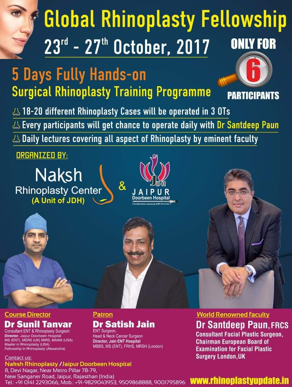 Fully Hands-on Surgical Rhinoplasty Training Programme